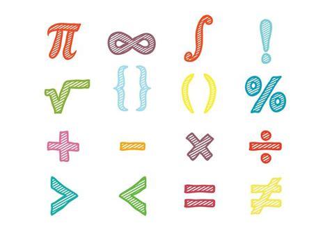 Math Symbols Vector Download Free Vector Art Stock