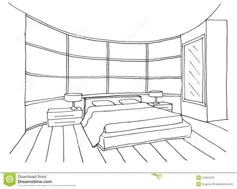 croquis chambre a coucher croquis d 39 une chambre à coucher intérieure illustration
