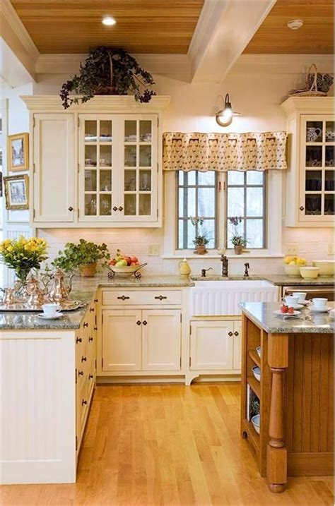 white country kitchen  crown point cabinetry