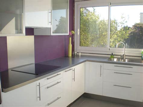 cuisine blanc et violet cuisine violette et blanc pas cher sur cuisine lareduc com