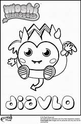 Monster Moshi Coloring Monsters Pages Diavlo Cute Print Hard Printable Getcoloringpages Cheerful Personality Truly Because Popular sketch template