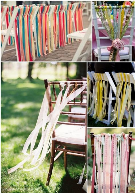 getting creative with your wedding chairs