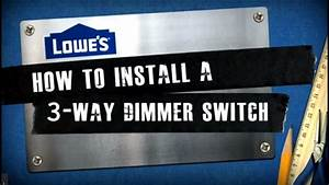 Four Way Stop Light How To Install A 3 Way Dimmer Switch Youtube