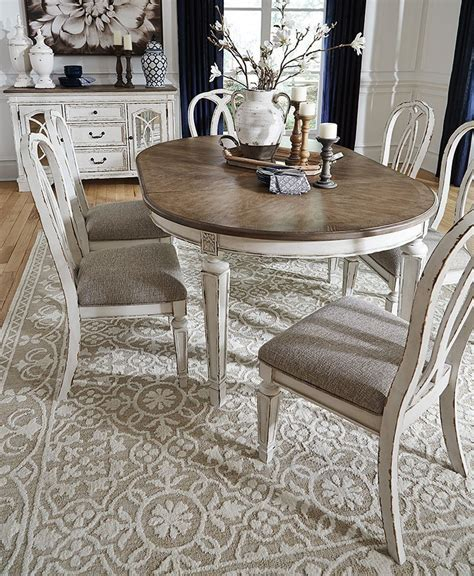 realyn oval dining room set signature design furniture cart