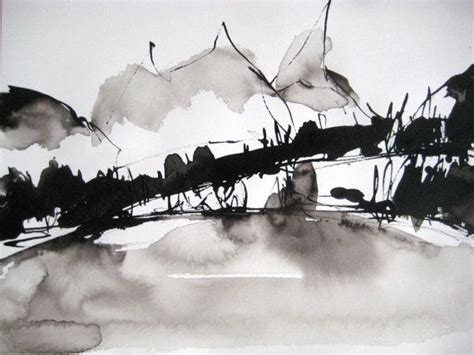 Abstract Black And White Watercolor Painting by 12 6 X 9 4 Quot Original Abstract Expressionist Ink Drawing
