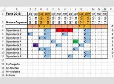 Come pianificare le ferie su Excel