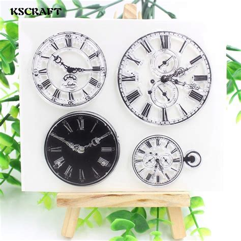 kscraft clocks transparent clear silicone stamps  diy