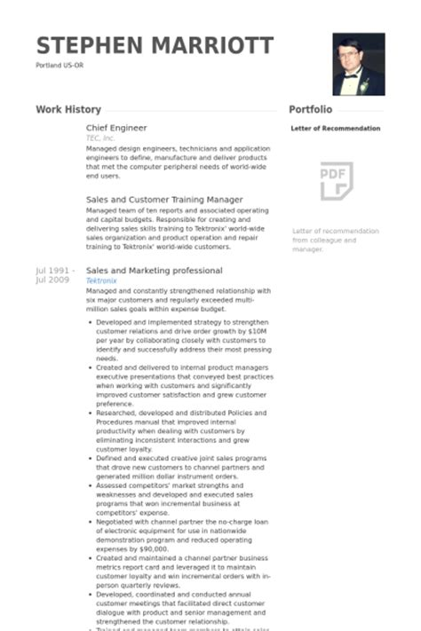 chief engineer resume sles visualcv resume sles
