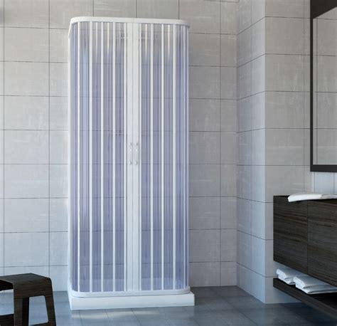 Cabina Doccia A Soffietto box cabina doccia tre lati in pvc 70x100x70cm con apertura