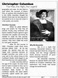 FREEBIE: Christopher Columbus Close Reading Biography by ...