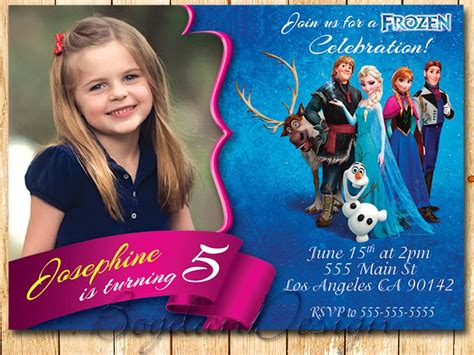 frozen invitation template it frozen printable birthday invitation templates to catch your fashion