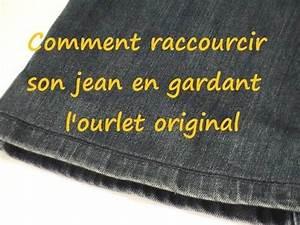 Faire Ourlet Jean : astuce couture comment raccourcir son jean en gardant l 39 ourlet original youtube couture ~ Melissatoandfro.com Idées de Décoration