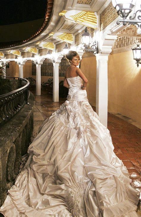 melania trump wedding dress dresses knauss bridal jewelry donald gowns ring ball lady engagement formal cake