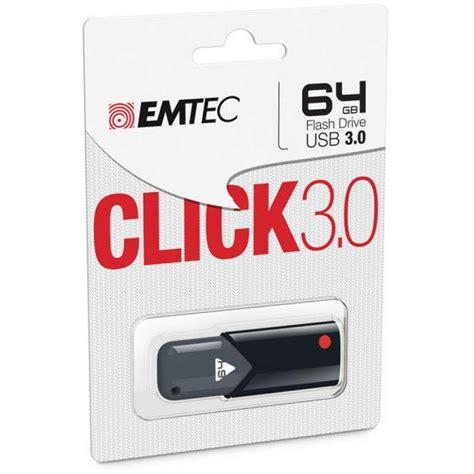 emtec click b100 cl 195 169 usb 64 go usb 3 0 80 mo s noir