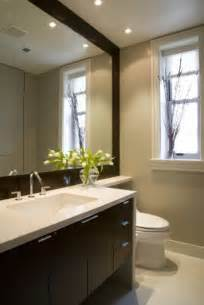 recessed lights above vanity