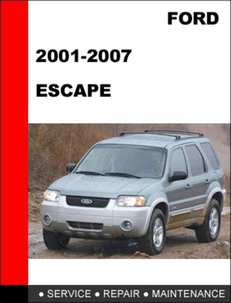 online auto repair manual 2007 ford escape on board diagnostic system ford escape 2001 to 2007 factory workshop service repair manual d