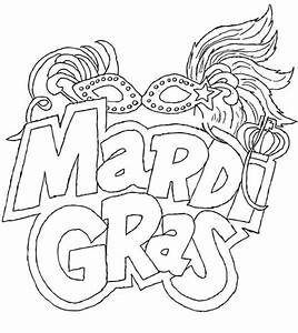 The Carnival Season Of Mardi Gras Coloring Pages