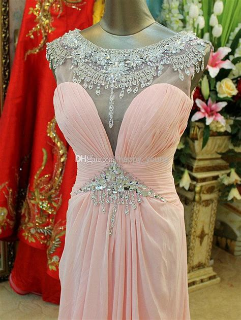 Elaborate Crystal Evening Dress With Cap Sleeves See ...