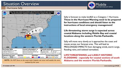 5pm Hurricane Sally Update [09/15]:... - US National ...