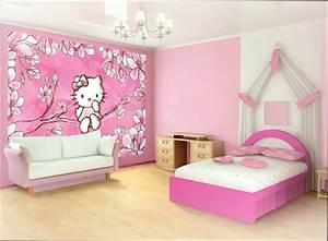 chambre fille papier peint chambre fille hello kitty With papier peint fille chambre