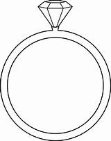 Ring Diamond Boda Anillos Outline Coloring Pages Sweetclipart Guardado Desde sketch template