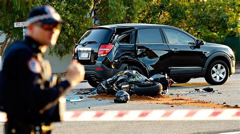 Police At The Scene Of A Fatal Motorcycle Accident At The