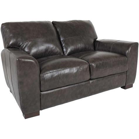 Gray Leather Loveseat by Grey Italian All Leather Loveseat 1p 4849l Soft