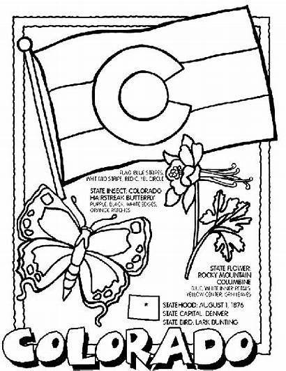 Colorado Coloring Flag Pages Facts Crayola State