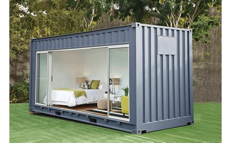 renovated shipping container   outdoors room