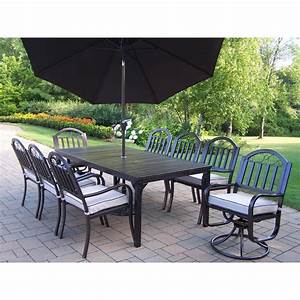 piece aluminum outdoor dining set with tan cushions and With furniture covers brisbane
