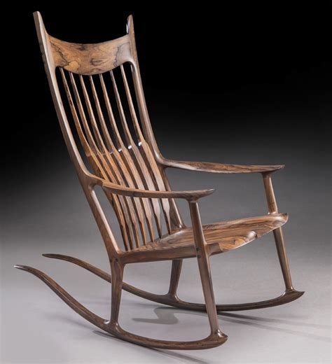 maloof rocking chair auction sam maloof rosewood tailed rocking chair