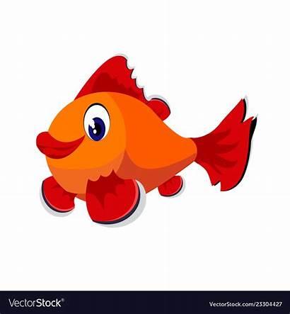 Fish Clipart Cartoon Vector Isolated Clip Vectors