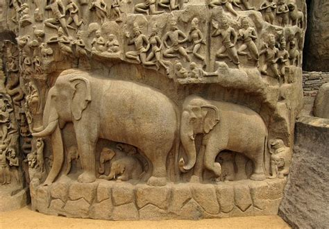 Free Photo Elephants Bas Relief Indian Free Image On