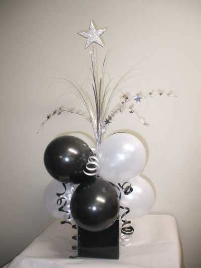 black and white table arrangements prom table balloon decorating ideas supplies black