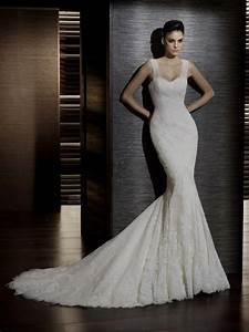 lace spaghetti strap trumpet wedding dress with corset With trumpet style wedding dress