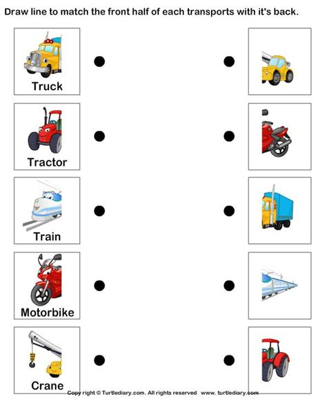 worksheets on land transport for kindergarten download and print turtle diary s means of land transport
