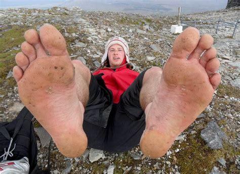 Barefoot climb of Mt. Croagh Patrick | Atop Mt. Croagh ...