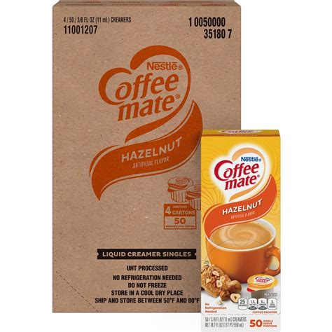 Nestle coffee mate liquid concentrate pump bottle, hazelnut flavor coffee creamer is a harmonious blend of deliciously rich, velvety smoot sweet and nutty hazelnut notes that will enhance your cup of coffee. Wholesale Nestle Coffee-mate Creamer singles NES35180CT in ...
