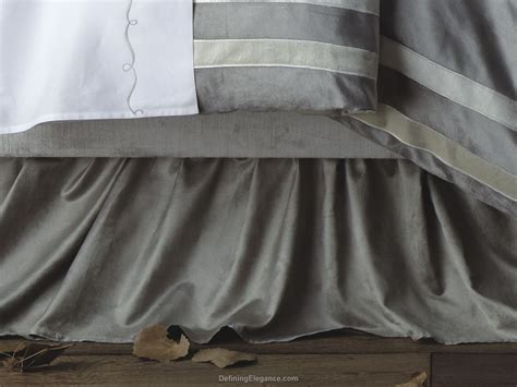 Silver Bed Skirt