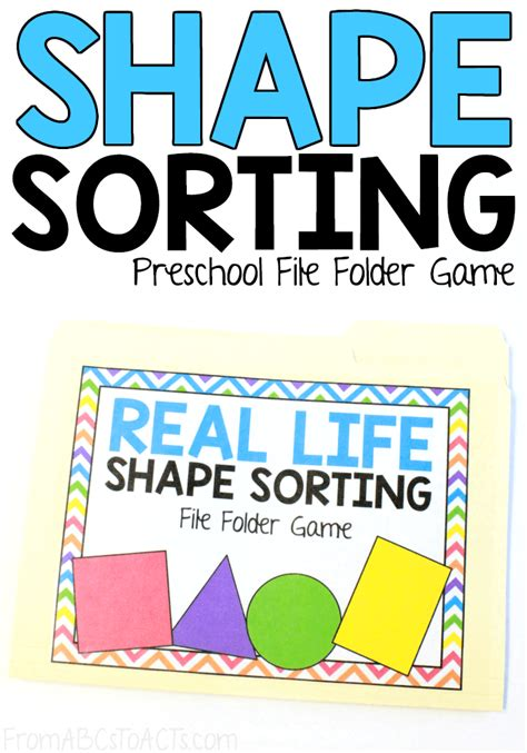 2d shape sorting file folder from abcs to acts 971 | Shape Sorting File Folder Game for Preschoolers