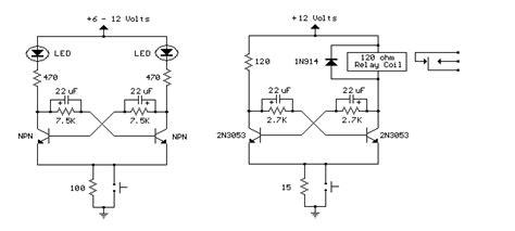 Bistable Multivibrator Flip Flop Circuits Electronics