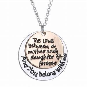 lovers letter Family Love Necklace Heart Pendant Mother ...