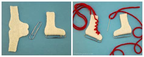 patines de hielo hechos  fieltro clips  hilo