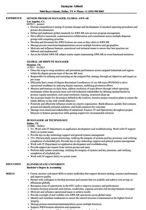 Ar Resume by Manager Ar Resume Sles Velvet