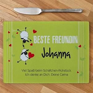 Ausgefallene Geschenke Für Die Beste Freundin : glasbrett f r die beste freundin ~ Frokenaadalensverden.com Haus und Dekorationen