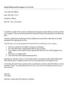 Cover Letter For Employment Sle Background Investigator Resume Sales Investigator Lewesmr