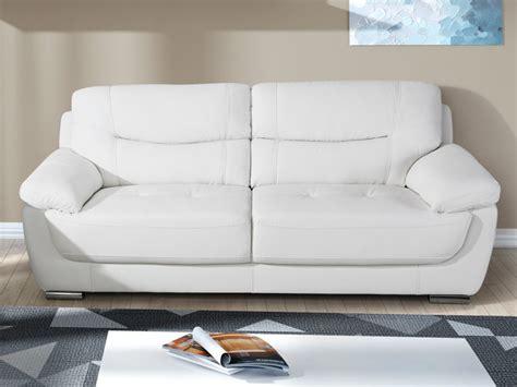 canape blanc canapé 2 ou 3 places en simili blanc chocolat ou taupe