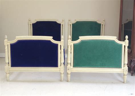ib pair vintage french single beds   foot ends