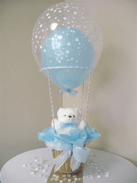 centerpieces for baby shower boy centerpiece boy hot air balloon small maki and his room pinterest hot air balloons air