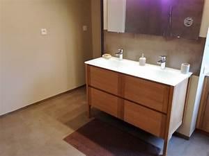 salle de bains bton cir salle de bains bton cir with With amazing meuble de cuisine ilot central 12 plan cuisine design en beton cire atlantic bain